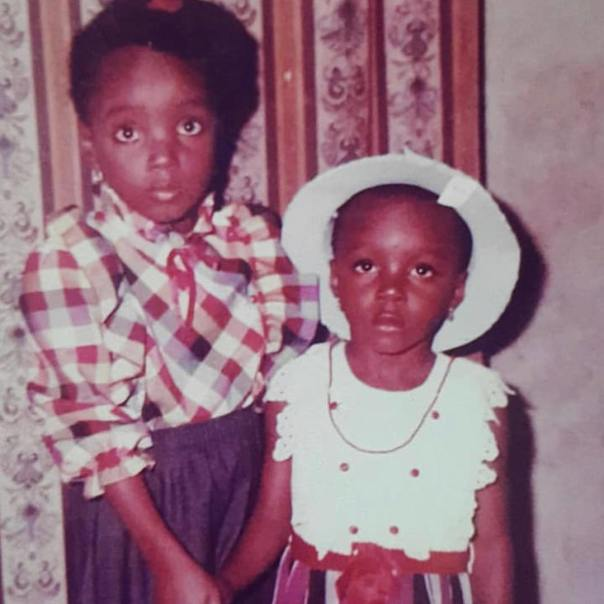 Chioma Akpotha Childhood Throwback To Celebrate Sister's Birthday (2)