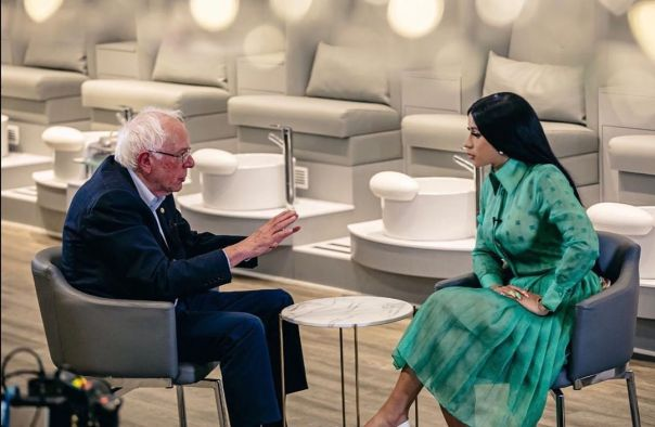 Bernie Sanders Reveals Plans To Become President To Cardi B (2)