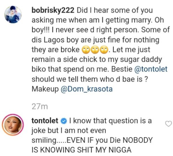 Bobrisky To Remain Side Chick To Sugar Daddy (2)