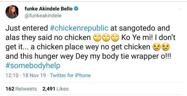 Funke Akindele Bello Shares Her Ordeal At Chicken Republic (2)