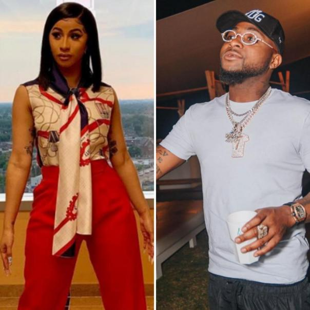 Davido Sends Cardi B Champagne Worth N7M