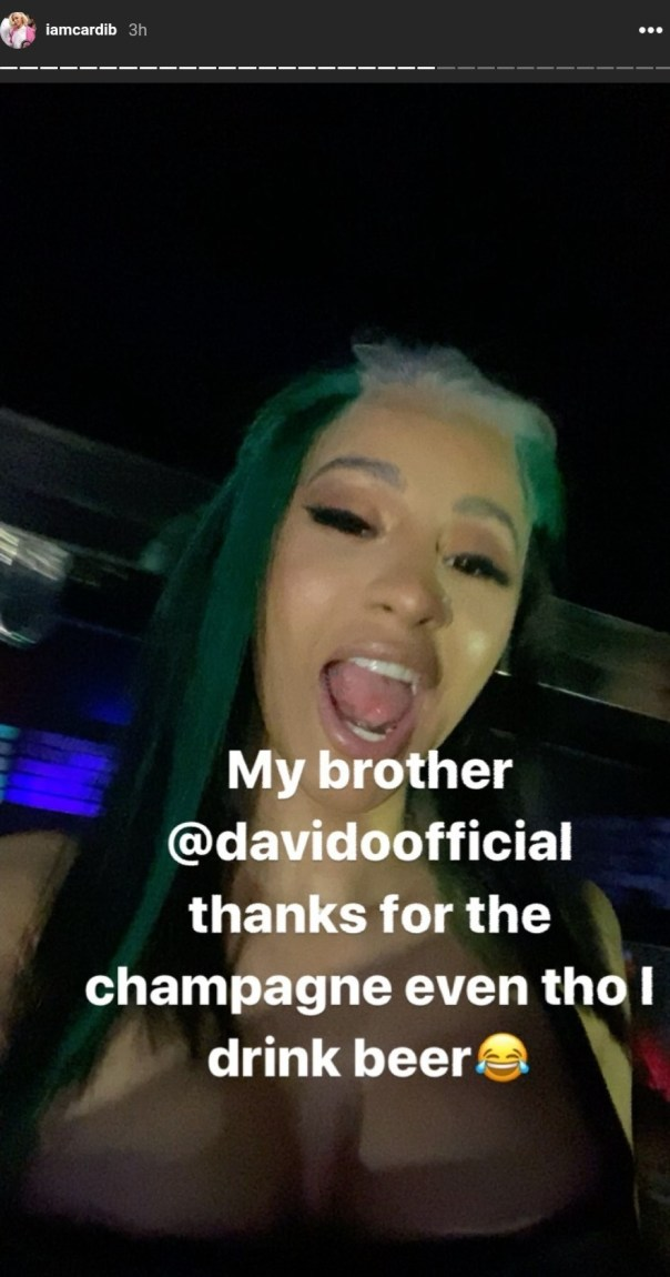 Davido Sends Cardi B Champagne Worth N7M (3)