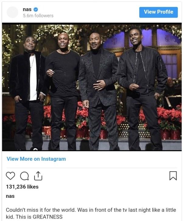 Eddie Murphy Saturday Night Live Return Nas Reacts (2)