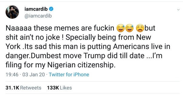 Cardi B Filing For Her Nigerian Citizenship And Picking Tribe (3)