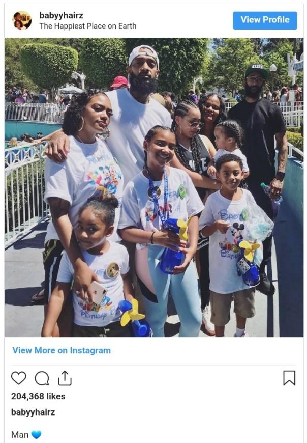 Nipsey Hussle Last Family Vacation Photo (2)