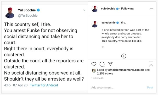 Yul Edochie Reacts After Funke Akindele Arrested For Hosting Party (2)