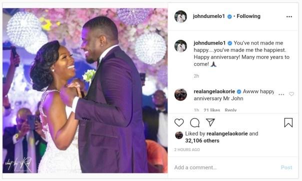 John Dumelo And Wife Gifty Mawunya Nkornu Celebrate 1st Wedding Anniversary (3)