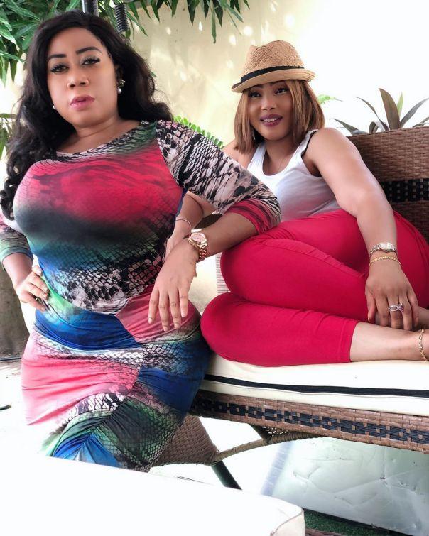 Moyo Lawal Bolanle Ninalowo Wife Bunmi Pose Together (5)