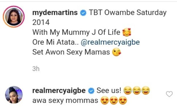 Mide Martins And Mercy Aigbe 2014 Owambe Throwback Photo (2)