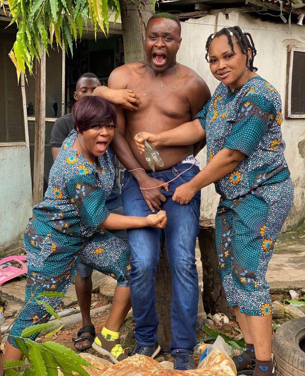 Femi Adebayo Mercy Aigbe Liz Da-Silva Yoruba Movie ERU KAN (2)