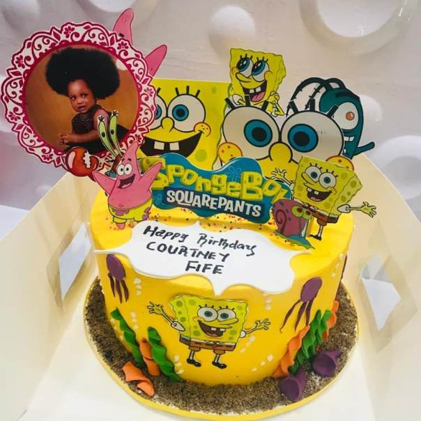 Ronke Odusanya's Daughter Fife 1st Birthday Cakes (2) Amebo Book
