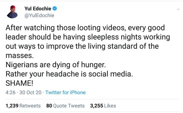 Yul Edochie Reacts To Looting Videos (2) Amebo Book