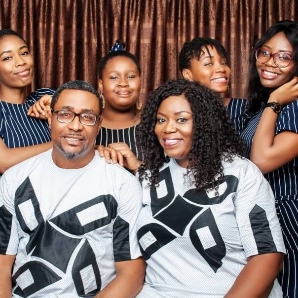 Tony Umez Wife And Daughters Family Photo