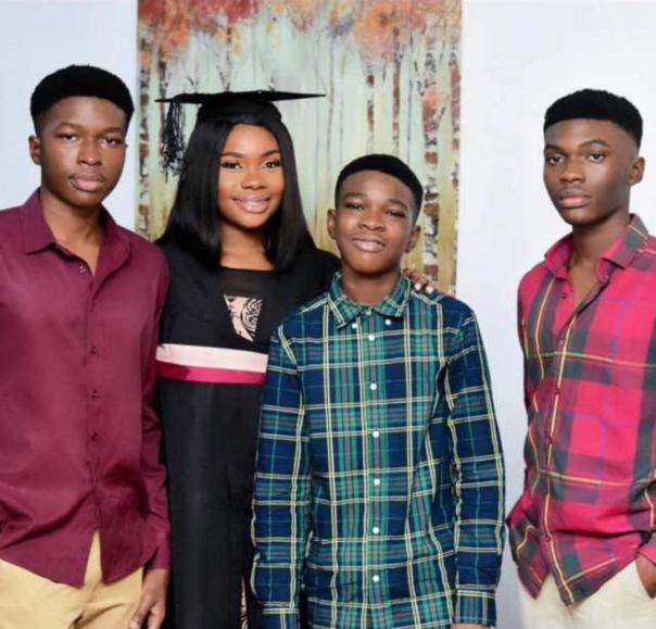 recent photo of kanayo o kanayo 4 children
