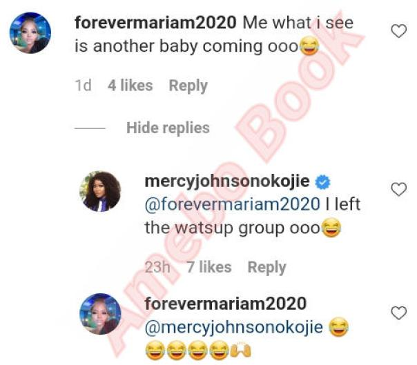 Fan Sees Another Baby Coming Mercy Johnson