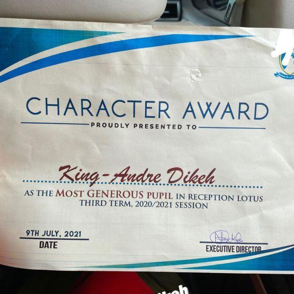 MOST GENEROUS PUPIL Award Tonto Dikeh Son (3)