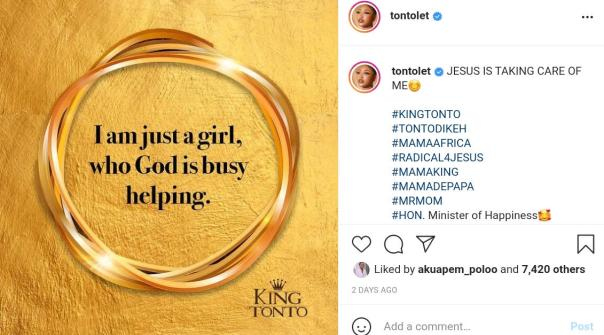 Tonto Dikeh Girl Who God Is Busy Helping (2) Amebo Book