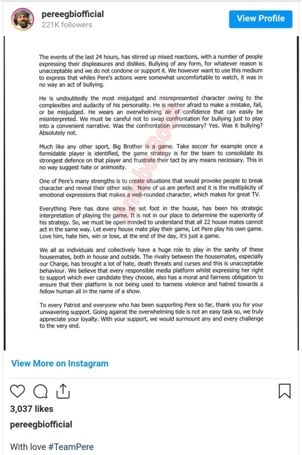 Pere Statement Whitemoney Bullying (2) Amebo Book