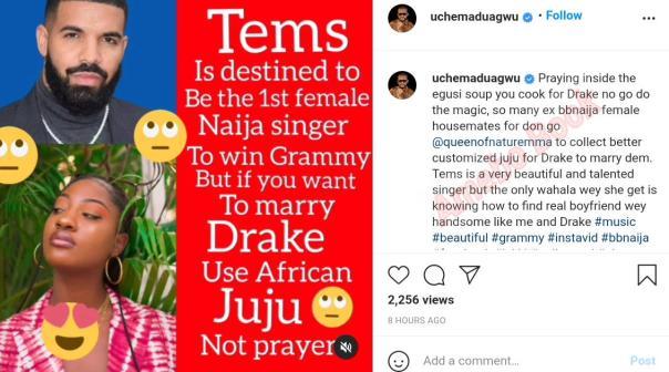 Tems Use African Juju Not Prayers Uche Maduagwu (2)