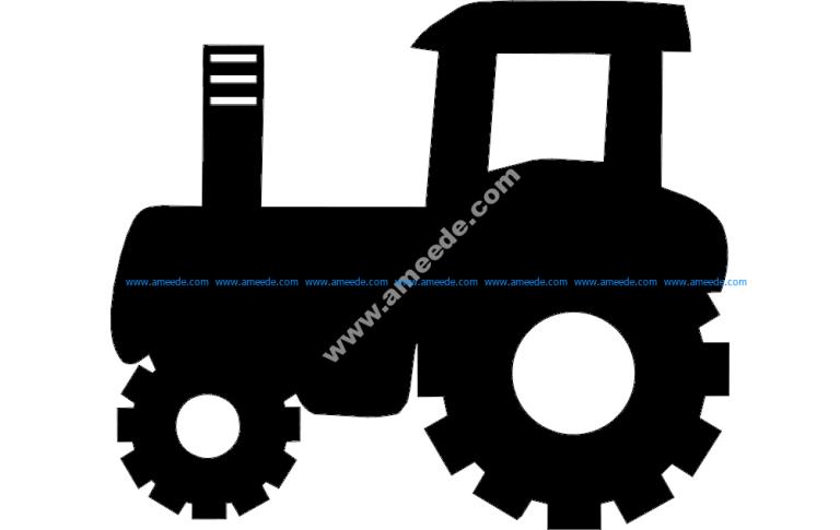 Tractor silhouette vector art