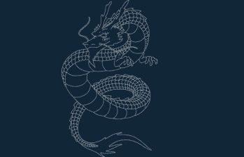 Dragon dxf file
