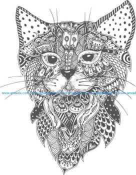 pattern of cat head