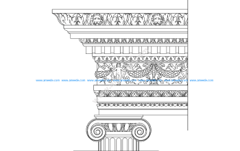 Ionic order – ancient greek architectural orders