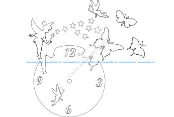 Clock Butterfly Fairy