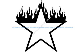 Burning Star Design