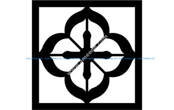 Grille Pattern Flower