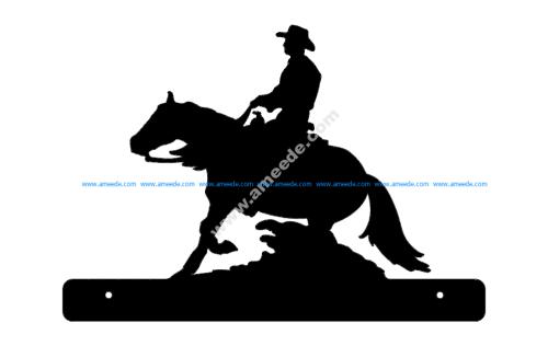 Horse Cowboy Plate