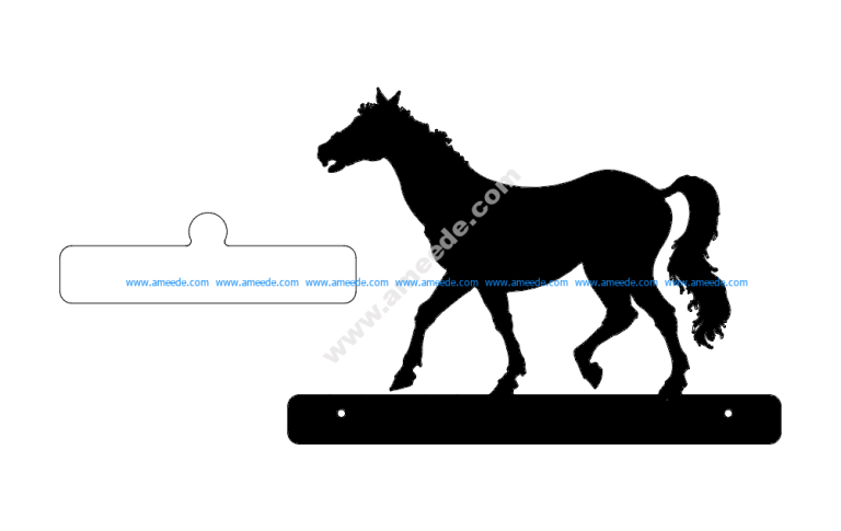 Horse Walking Plate