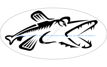 Northern Pike Fish Silhouette