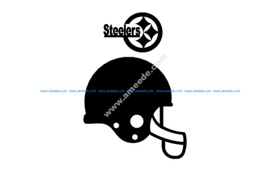 Steelers Helmet 3d