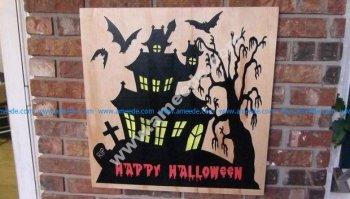 Halloween Spooky House Sign
