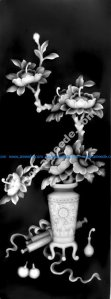 3d Grayscale Floral Pattern BMP File