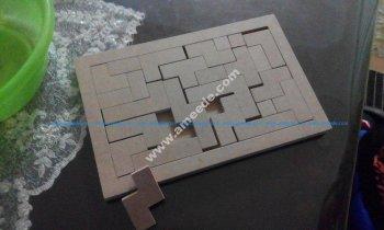 45 parça ahşap Puzzle