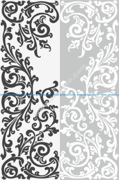 Abstract Floral Ornament Sandblast Pattern