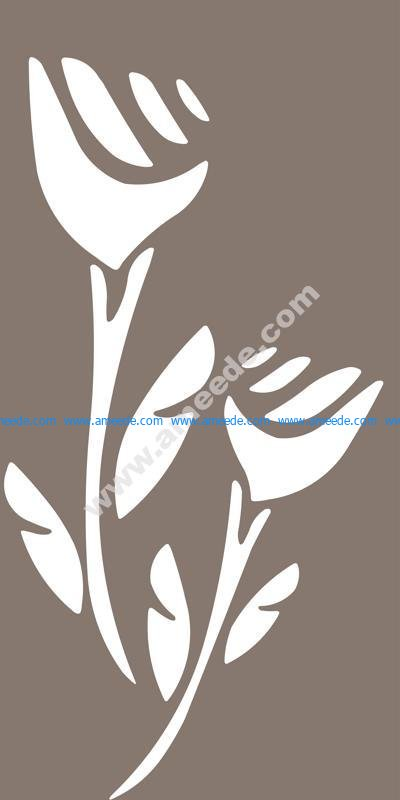 Abstract Rose Wall Sticker