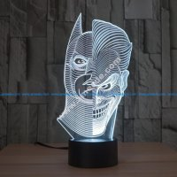 Batman Joker Morphing 3D LED Illusion Lamp