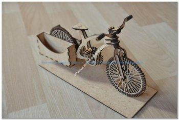 Bike Wooden Organizer 3D Puzzle