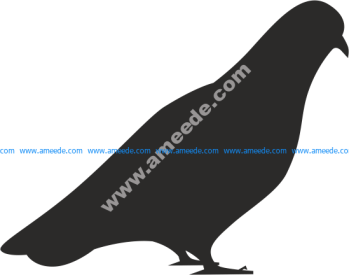 Bird Dove Silhouette Vector