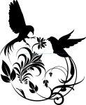 Bird Swirl Vector Art