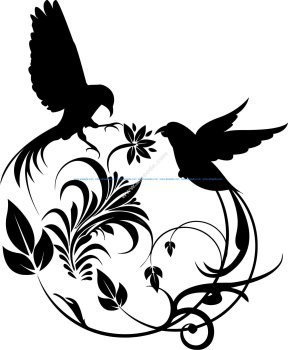 Bird Swirl Vector Art
