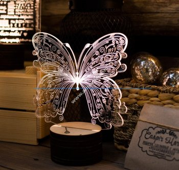 Butterfly 3D Lamp Vector Model