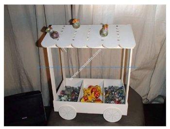Candy Cart Lasercut 3D Puzzle