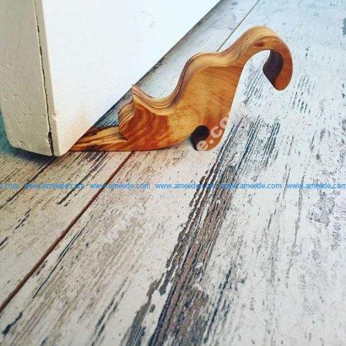 Cat shaped door wedge