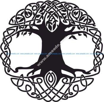 Celtic Tree Tattoo Design