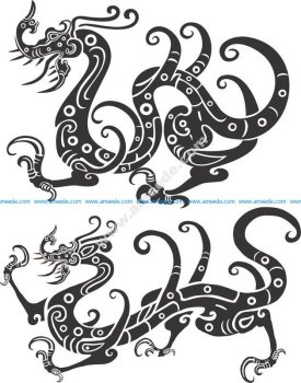 Chinese New Year Golden Dragon Vector
