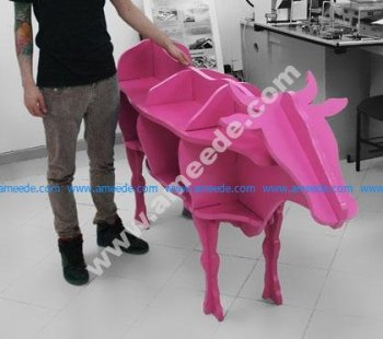 Cow Shaped Storage Shelf 3D Puzzle CNC Laser cut